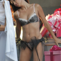Adriana Lima in Thong and Bra