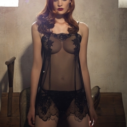 Alexina Graham in la perla lingerie shoot winter