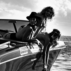 Alyssa Arce Black and White Topless for Leonardo Corredor