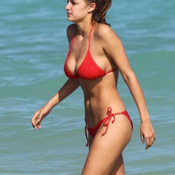 Alyssa Arce in Red Bikini