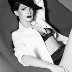 Anne Hathaway Posing for Elle UK