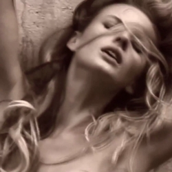 Anne Vyalitsyna topless in Mariano Vivanco short