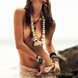 Behati Prinsloo Topless for Vogue