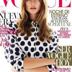 Behati Prinsloo Topless for Vogue