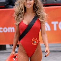 Carmen Electra in baywatch swimsuit