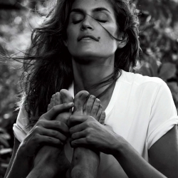 Cindy Crawford covered topless