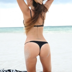 Claudia Romani Bikinis on Miami Beach
