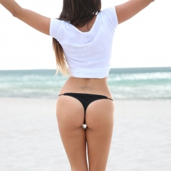 Claudia Romani Bikinis on Miami Beach