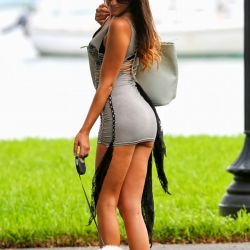 Claudia Romani upskirt in Miami