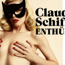 Claudia Schiffer covered topless on Vogue Germany