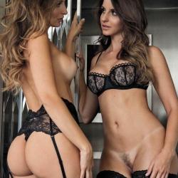 Debora and Denise tubino naked shoots for Playboy Mexico