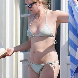 Elisabeth Moss Bikini Sunbathing