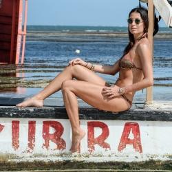 Elisabetta Gregoraci in bikini from Kenya