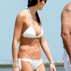 Elisabetta Gregoraci bikini shot from Kenia