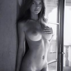 Emily Ratajkowski Topless by Dominic Petruzzi