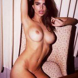 Emily Ratajkowski topless by Jonathan Leder