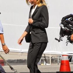 Gwyneth Paltrow goes braless for Hugo Boss