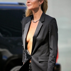 Gwyneth Paltrow goes braless for Hugo Boss