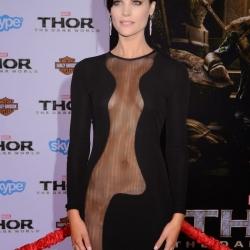 Jaimie Alexander butt window Thor premiere