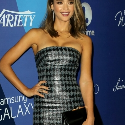 jessica alba cleavy at the power of women event