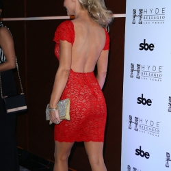 Joanna Krupa see-through red dress