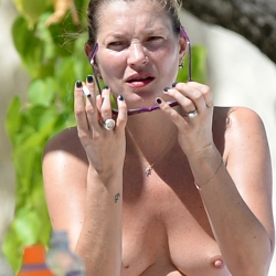 Kate Moss topless in Jamaica