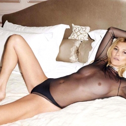 Kate Moss Topless for Lui Magazine