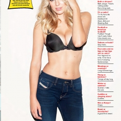 Keeley Hazell Poses for FHM UK