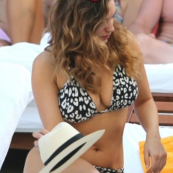 Kelly Brook in a bikini in Miami