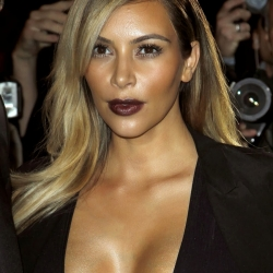 Kim Kardashian huge cleavage
