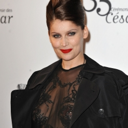 Laetitia Casta topless see through
