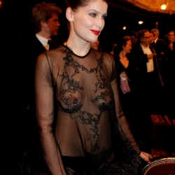 5Laetitia Casta topless see through
