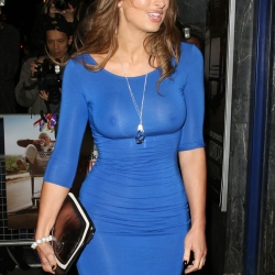 Luisa Zissman show nipples in see through dress