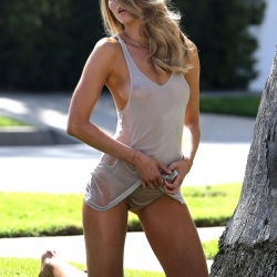 Maryna Linchuk wet t-shirt nipples