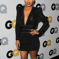 Meagan Good nipples in see-through dress
