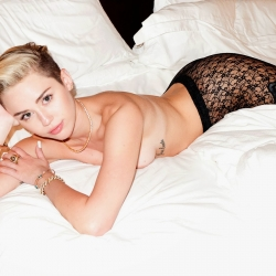 Miley Cyrus HOT braless for Terry Richardson
