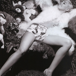 MileyCyrus Topless for V Magazine