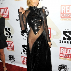 Paris Hilton in a Revealing Dress in Los Angeles
