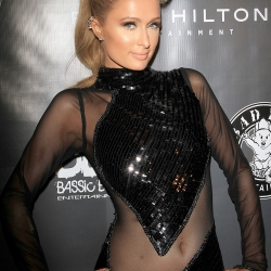 Paris Hilton in a Revealing Dress in Los Angeles
