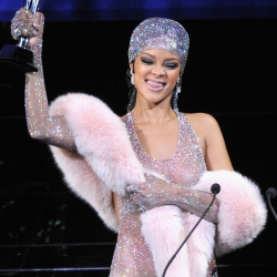 Rihanna Sparkles See-Through