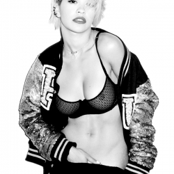 Rita Ora See-Through Bra