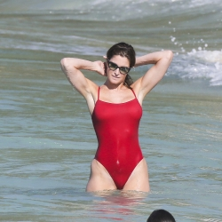 Stephanie Seymour see-through swimsuit