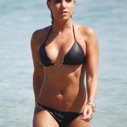 Sylvie Van der Vaart in a Black Bikini