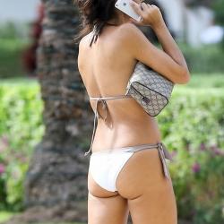 Vicky Cornell bikinis poolside in Miami