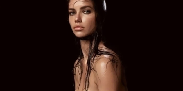 Adriana Lima Topless for Pirelli