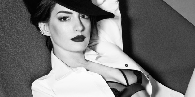 Anne Hathaway Posing for Elle