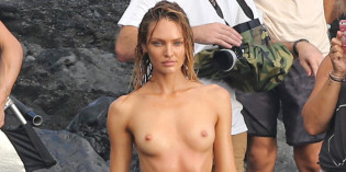 Candice Swanepoel Topless Photoshoot