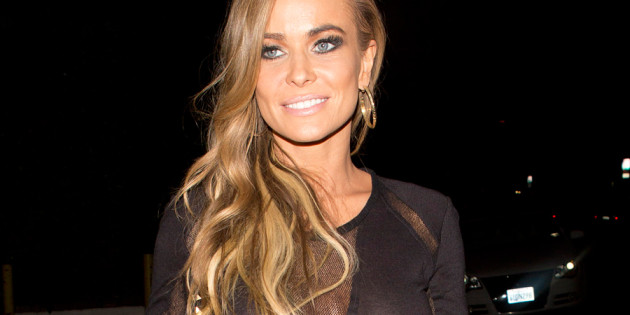 Carmen Electra Nipples in Black Dress