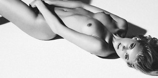Elsa Hosk Black And White Topless
