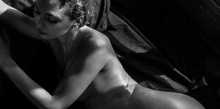 Klaudia Brahja Black And White Topless